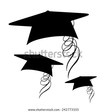 Graduation Caps - stock photo