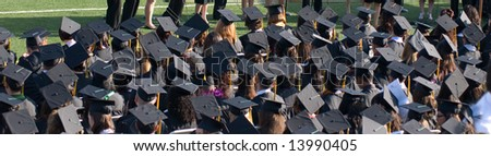 Graduation college - stock photo