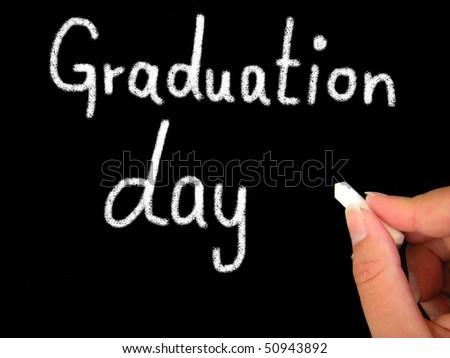 graduation day - stock photo