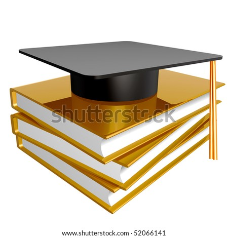 Graduation, education and knowledge icon illustration - stock photo