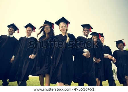 Graduation Friend Achievement Celebrate Degree Concept