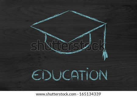 graduation hat symbol of education