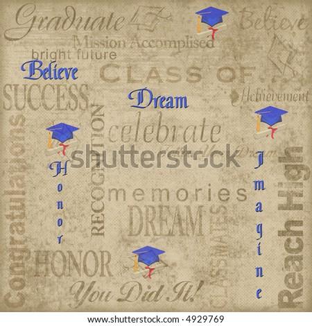 Graduation illustration - stock photo