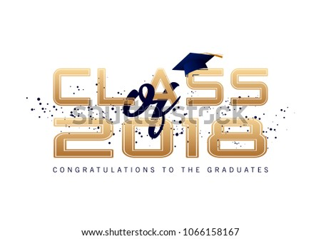 Graduation Label Text Graduation Design Congratulation ...