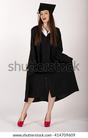Graduation. Student graduated. Graduation square academic cap.   - stock photo