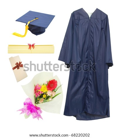 Graduation stuffs in presentation day - stock photo