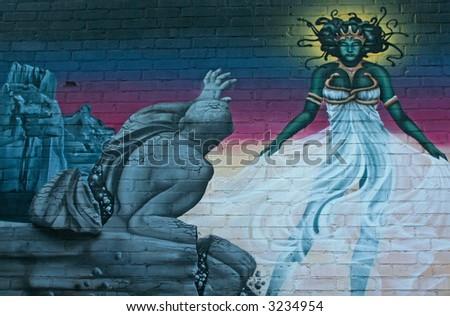 graffiti art work - stock photo