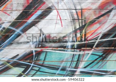 Graffiti background. - stock photo