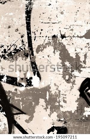 Graffiti / Background / Peeling paint / Abstract - stock photo