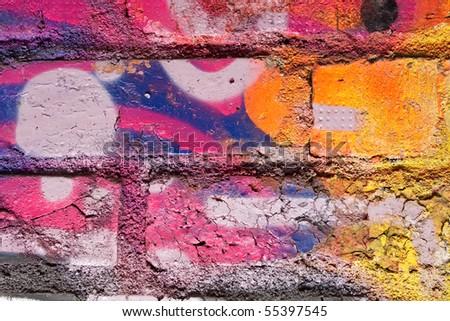 graffiti close-up - stock photo
