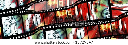 Graffiti Film strip - stock photo