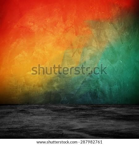 graffiti interior background - stock photo