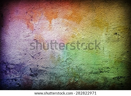 graffiti paint wall - stock photo
