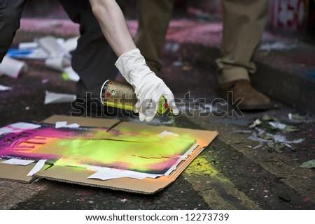 Graffiti Spray Can - stock photo