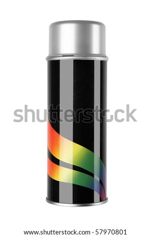 graffiti spray can isolated on white background - stock photo