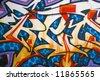 Graffiti texture - works great as a background or backdrop in any design. - stock photo