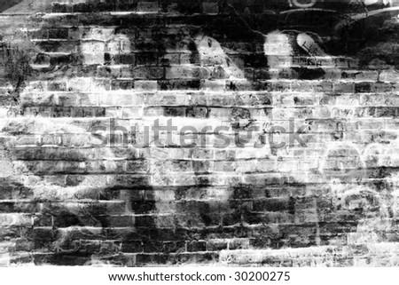 graffiti wall background - stock photo