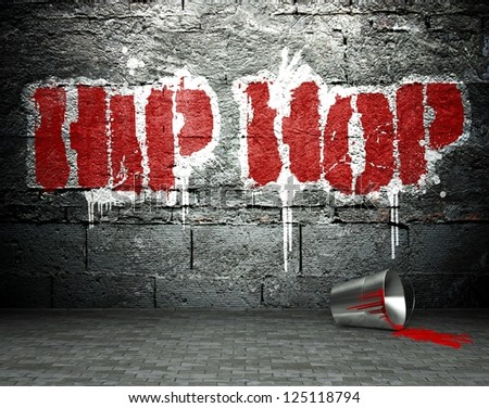 Graffiti Wall With Hip Hop Street Art Background