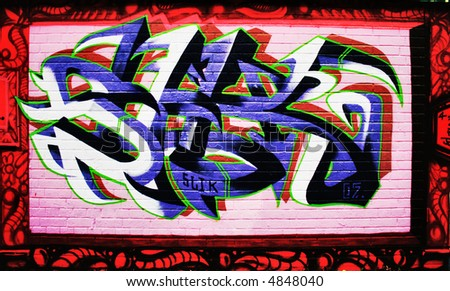 grafitti - stock photo