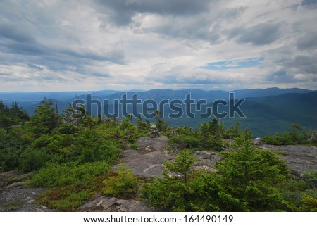 Grafton Notch State Park in Maine - stock photo