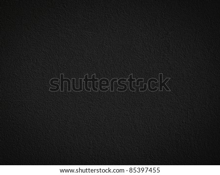Grain black dark paint wall background or texture - stock photo