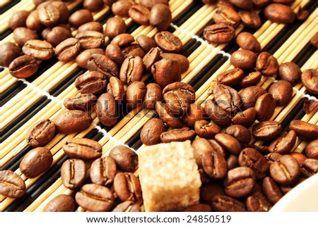 grain coffee and reed sugar