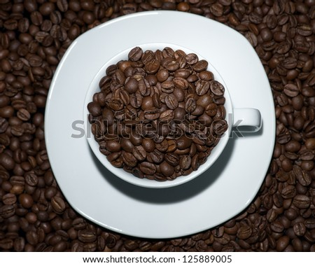 Grain coffee in a Cup