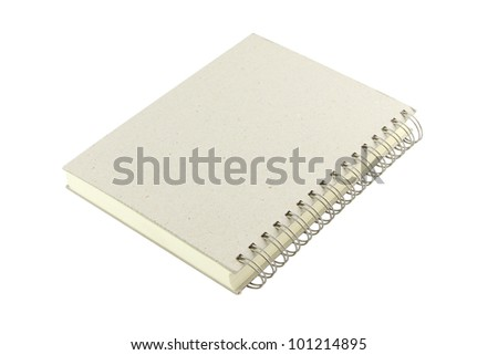 Grain cover ring bind note book on white background. - stock photo