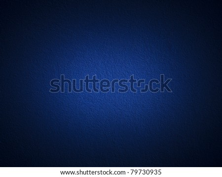 Grain dark blue paint wall background or texture - stock photo