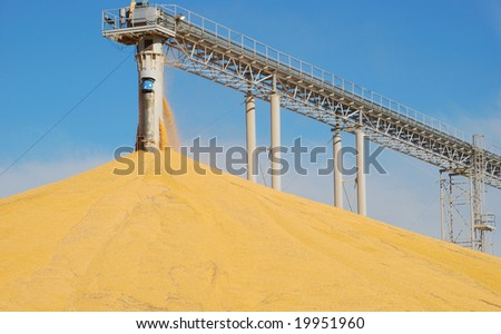 grain elevator - stock photo