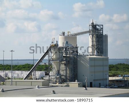 grain elevator at Port Canaveral, Florida - stock photo