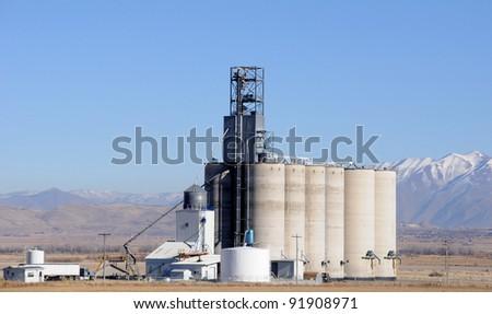 Grain Elevator in Winter - stock photo