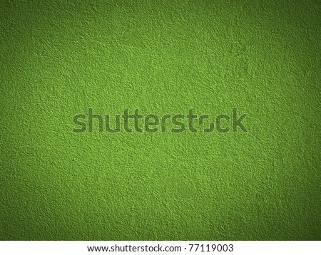 Grain green paint wall background or texture - stock photo