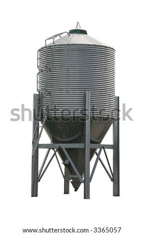Grain Silo on white background - stock photo