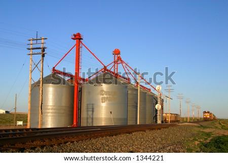 Grain Silo's - stock photo