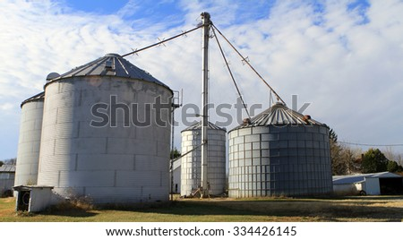 Grain silos in Eastern Indiana