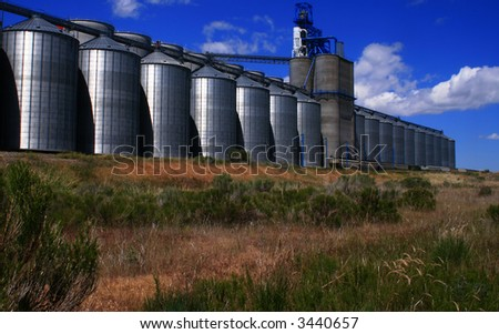 Grain storage and process facility in Osgood Idaho