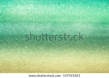 Grain wave aqua green and yellow paint wall background or texture - stock photo