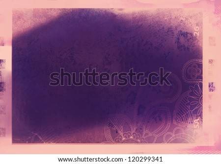 grained film strip abstract grunge texture - stock photo