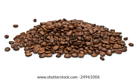 grains of coffee in a group