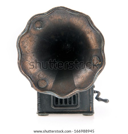 Gramophone. - stock photo