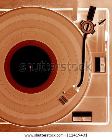Gramophone film positve - stock photo