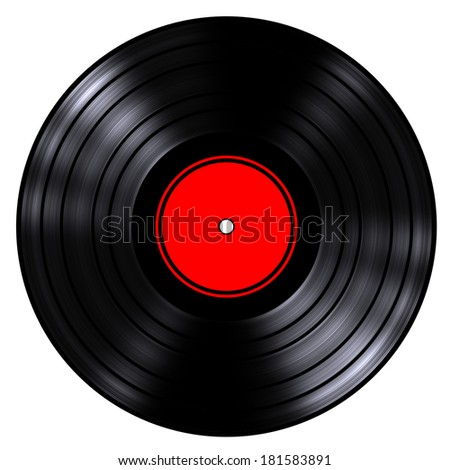 gramophone record (isolated, done in 3d) - stock photo
