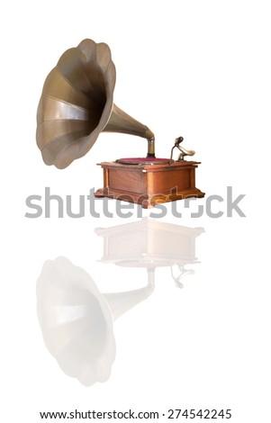 Gramophone record, listen classic. - stock photo