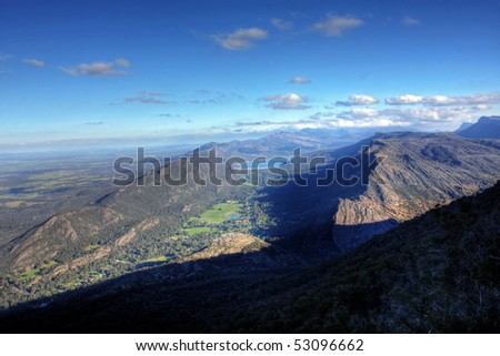 grampians national park lookout in victoria - stock photo