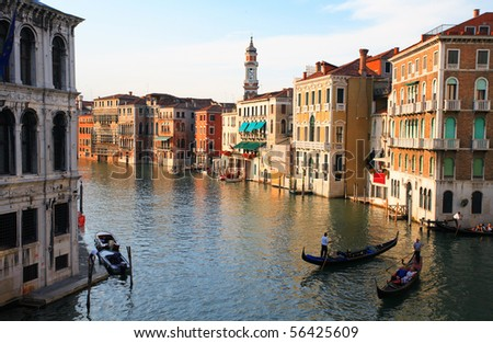 Gran Canal in Venice - stock photo
