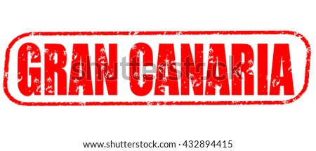 gran canaria stamp on white background.