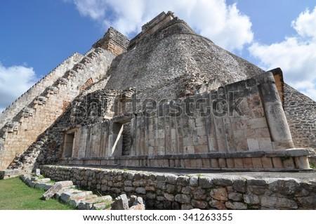 Gran Juego de Pelota, Mayan Ruin - Chichen Itza Mexico - stock photo