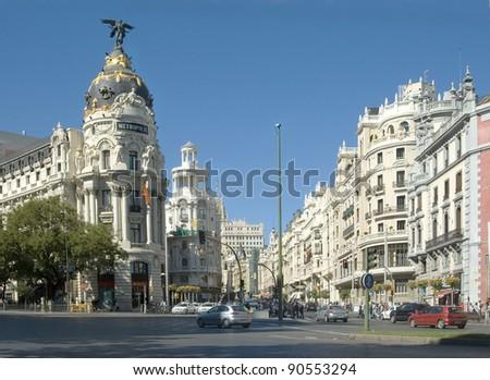 Gran Vía de Madrid - stock photo