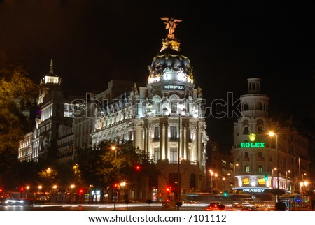 Gran Via in Madrid, Spain